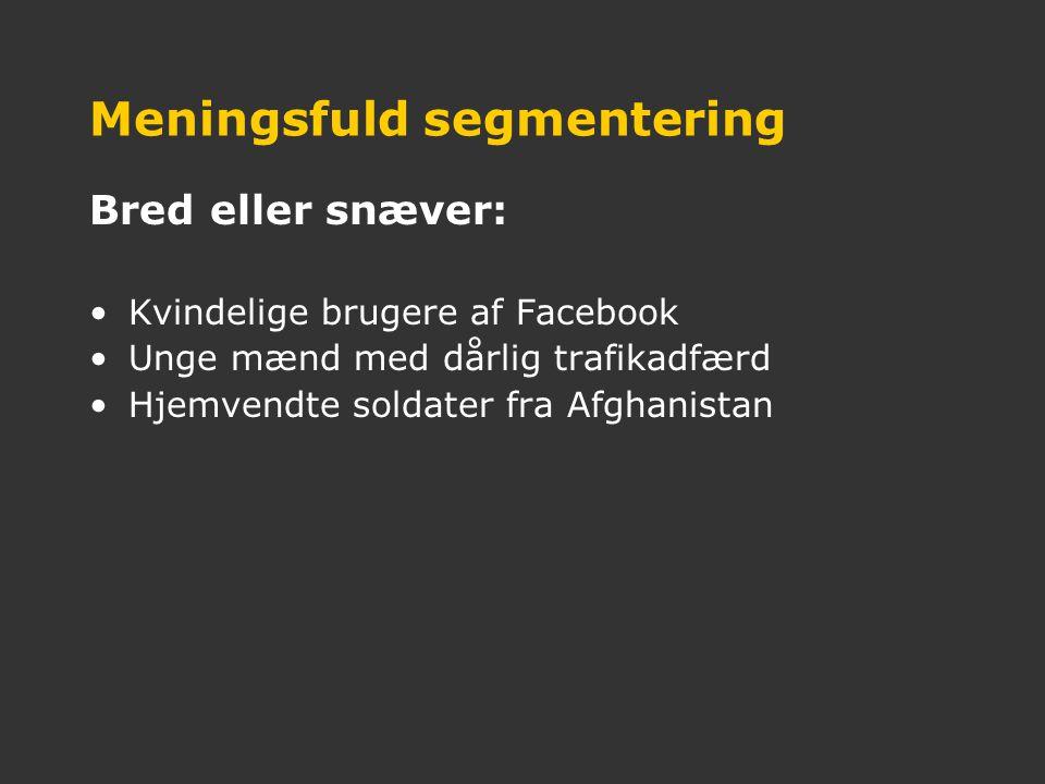 Meningsfuld segmentering