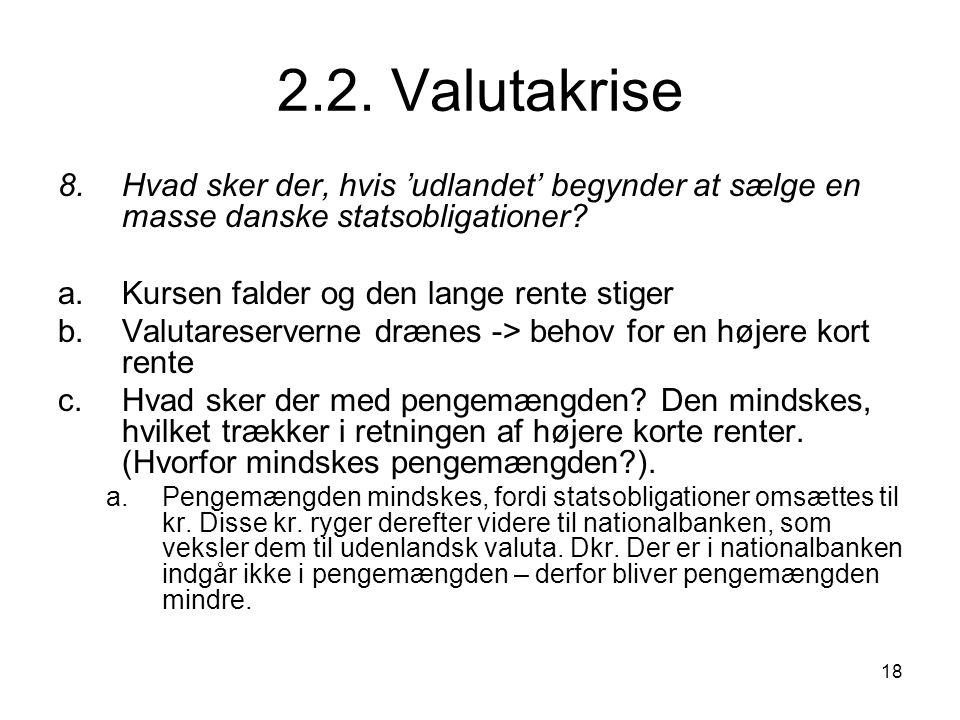 2.2. Valutakrise 8. Hvad sker der, hvis 'udlandet' begynder at sælge en masse danske statsobligationer