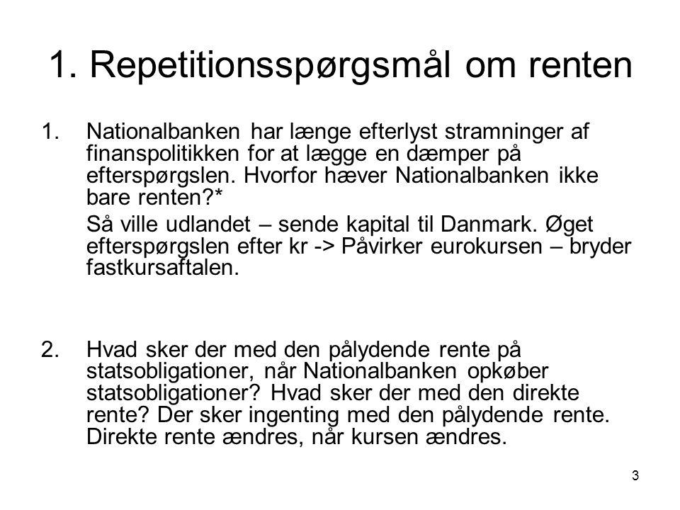 1. Repetitionsspørgsmål om renten