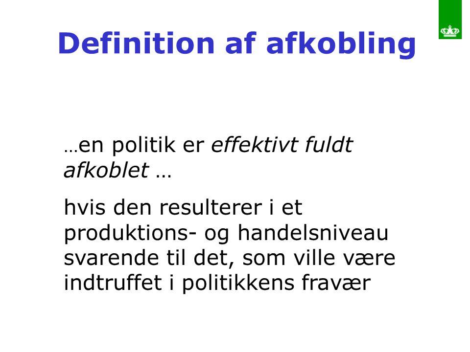 Definition af afkobling