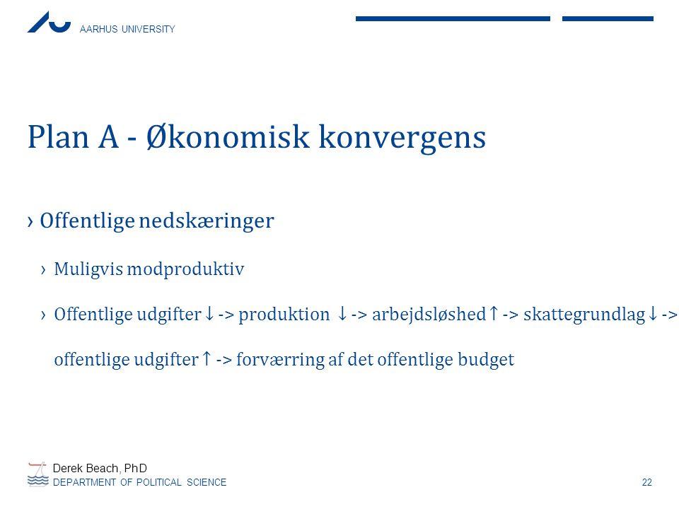 Plan A - Økonomisk konvergens