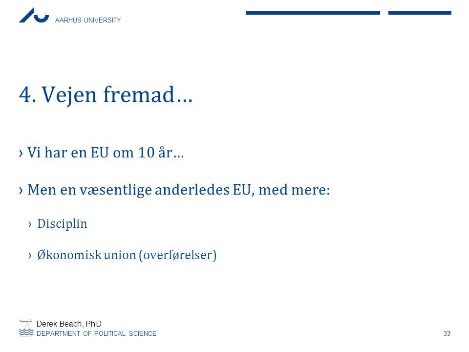 4. Vejen fremad… Vi har en EU om 10 år…