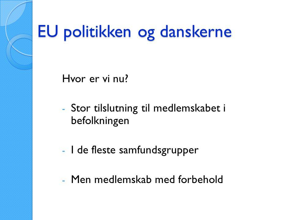 EU politikken og danskerne