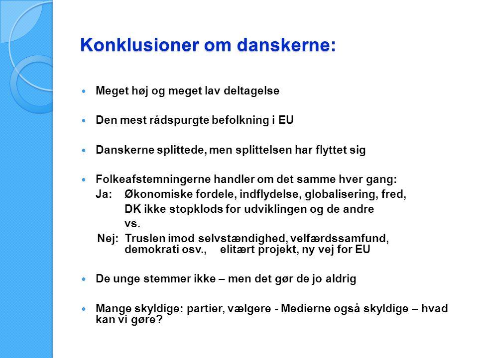 Konklusioner om danskerne: