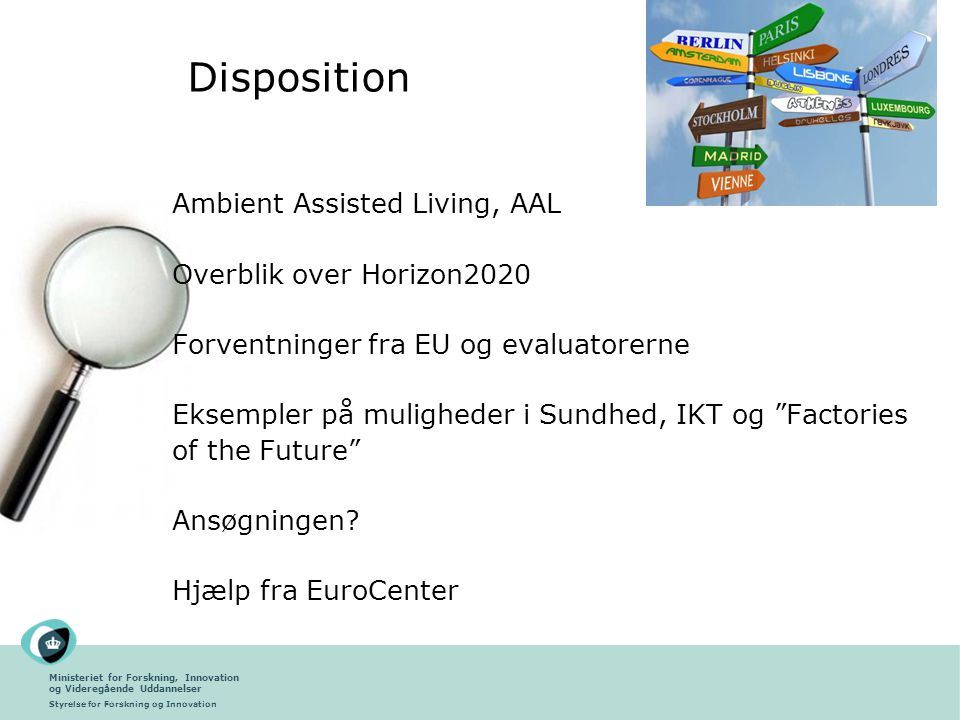 Disposition Ambient Assisted Living, AAL Overblik over Horizon2020