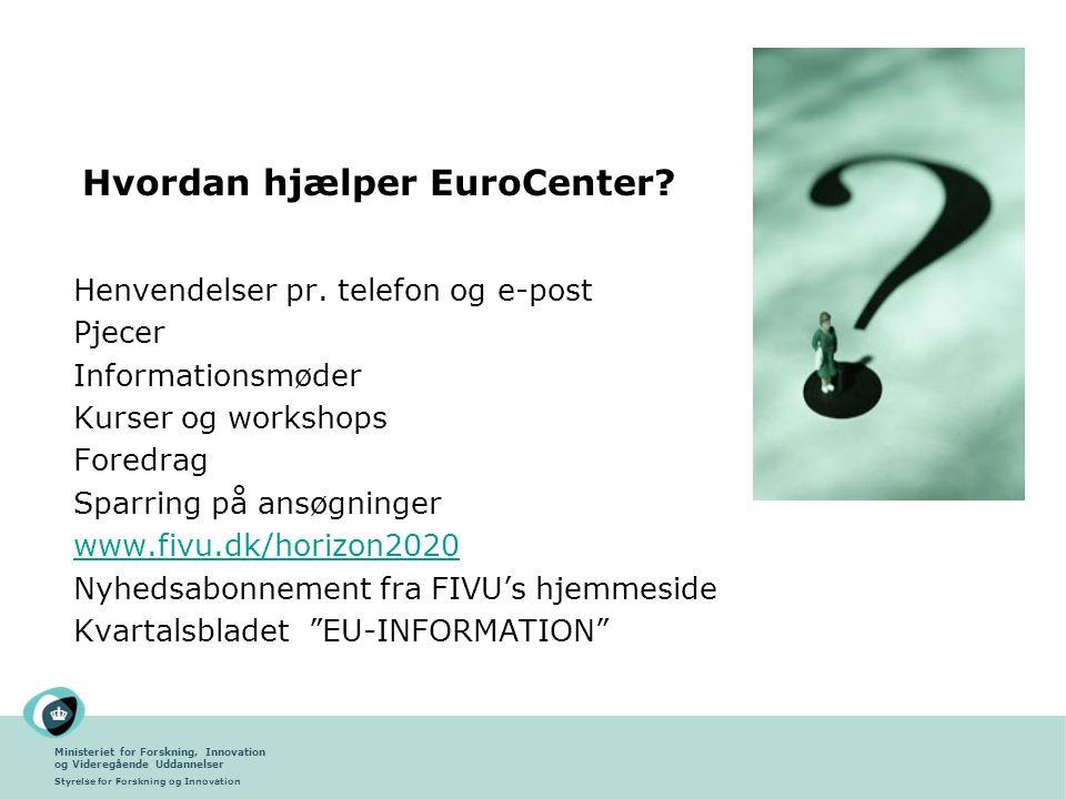 Hvordan hjælper EuroCenter
