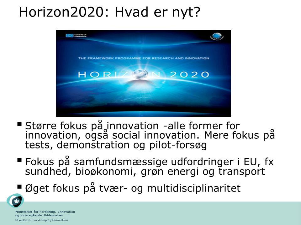 Horizon2020: Hvad er nyt