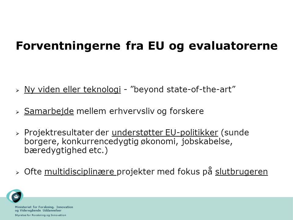 Forventningerne fra EU og evaluatorerne