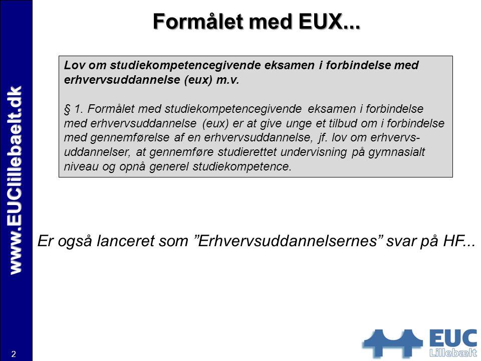 Formålet med EUX... www.EUClillebaelt.dk