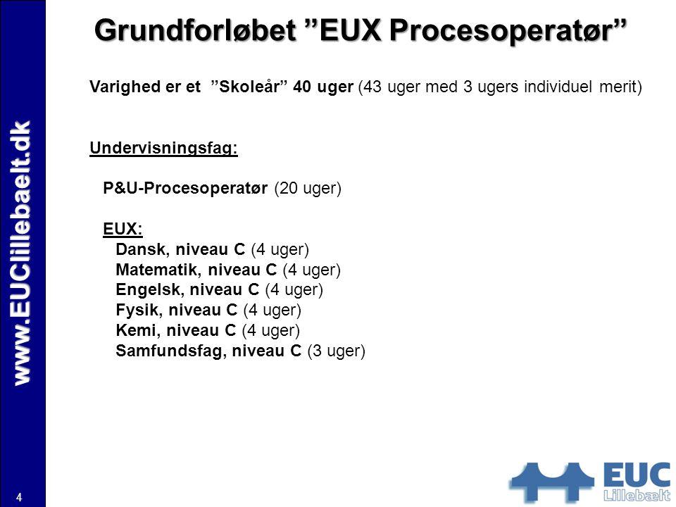 Grundforløbet EUX Procesoperatør
