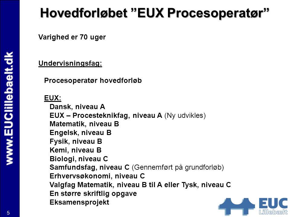 Hovedforløbet EUX Procesoperatør