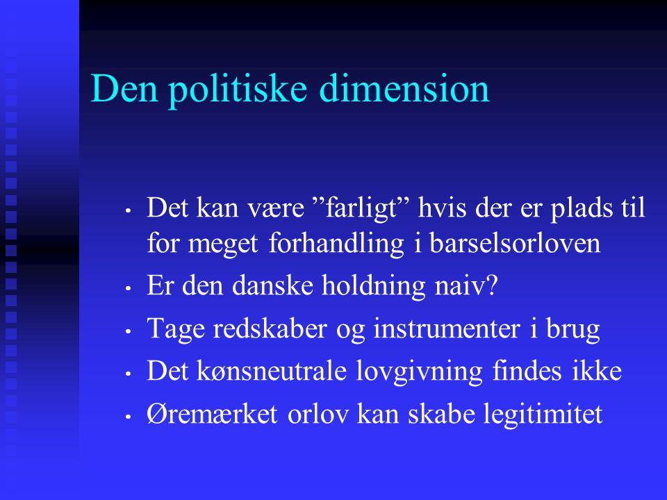 Den politiske dimension
