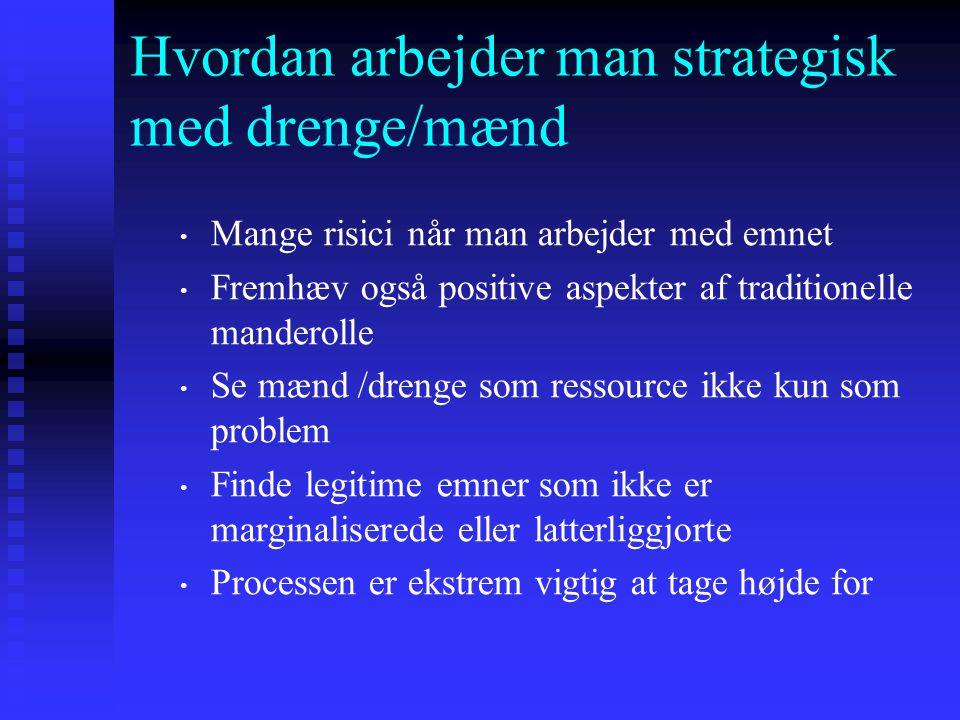 Hvordan arbejder man strategisk med drenge/mænd