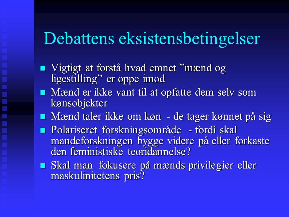 Debattens eksistensbetingelser