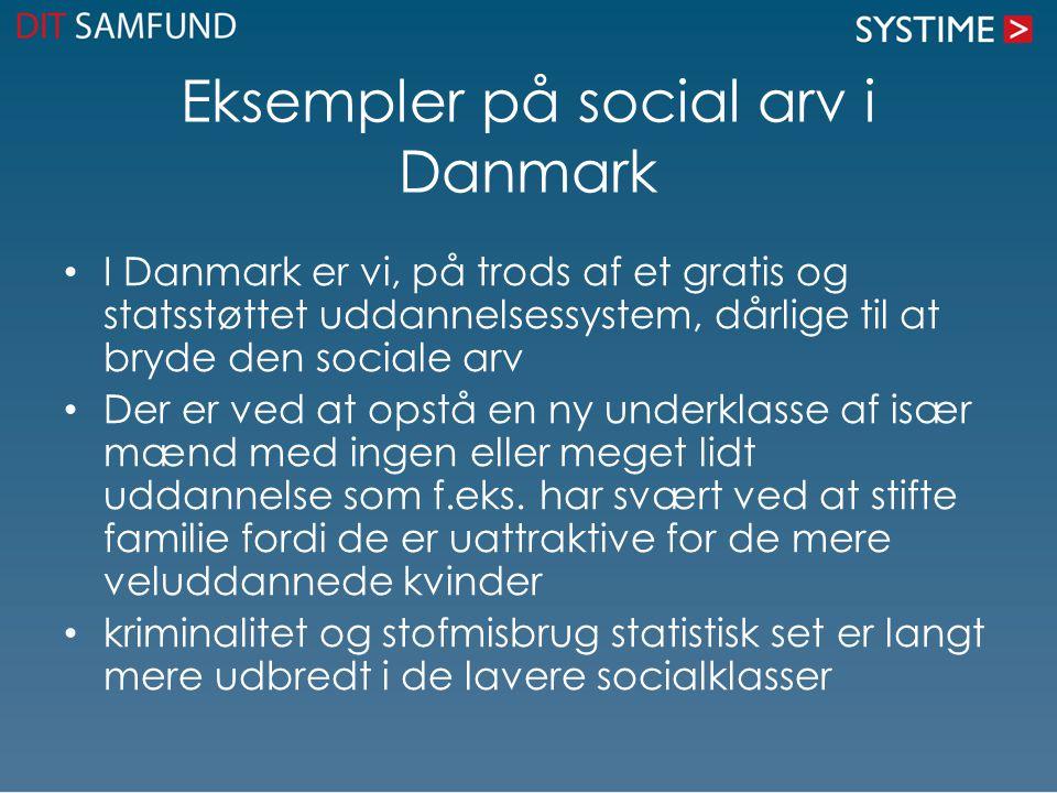 Eksempler på social arv i Danmark