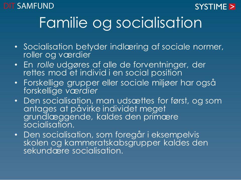 Familie og socialisation
