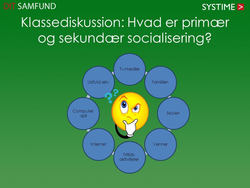 Klassediskussion: Hvad er primær og sekundær socialisering