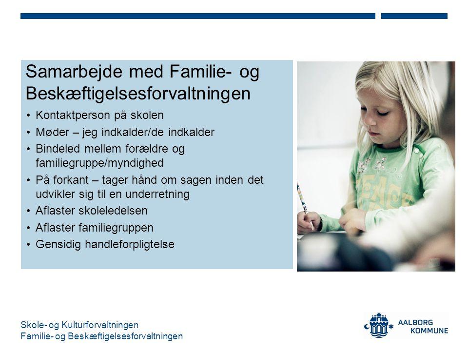Samarbejde med Familie- og Beskæftigelsesforvaltningen