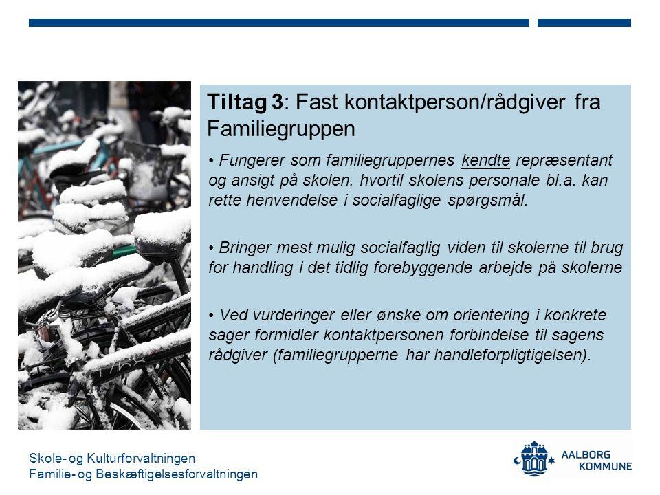 Tiltag 3: Fast kontaktperson/rådgiver fra Familiegruppen
