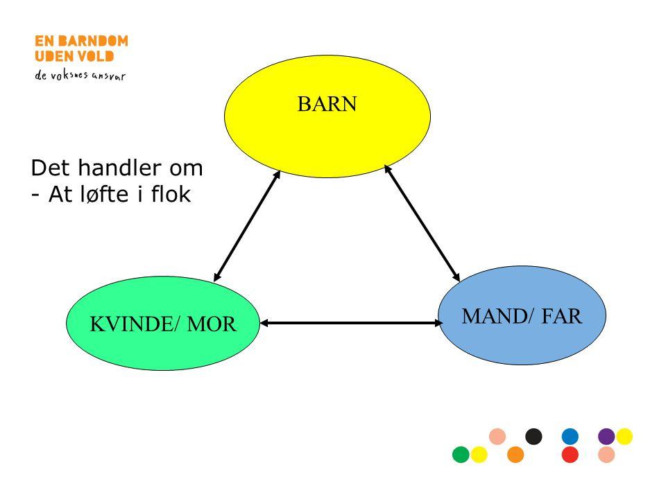 BARN Det handler om - At løfte i flok MAND/ FAR KVINDE/ MOR