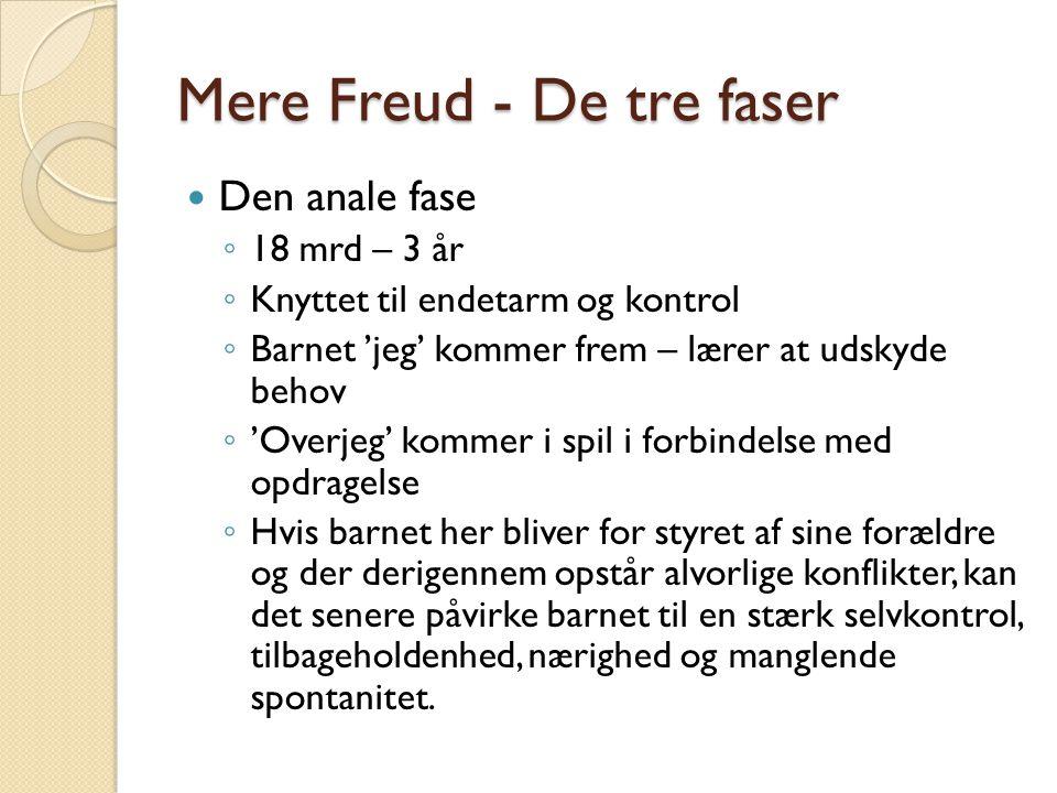Mere Freud - De tre faser
