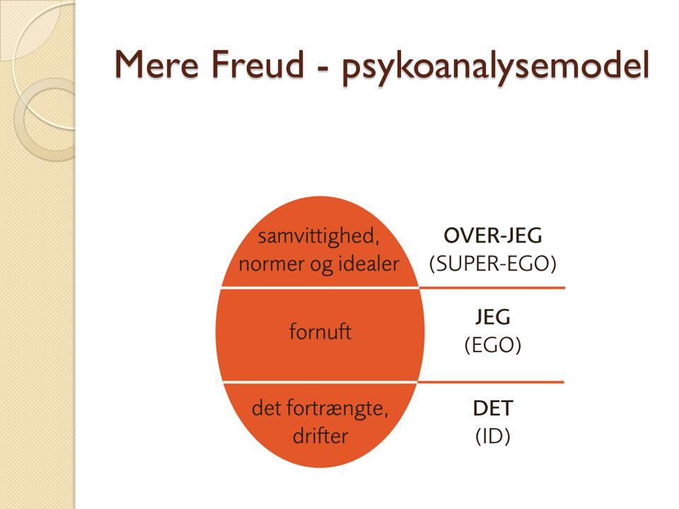 Mere Freud - psykoanalysemodel