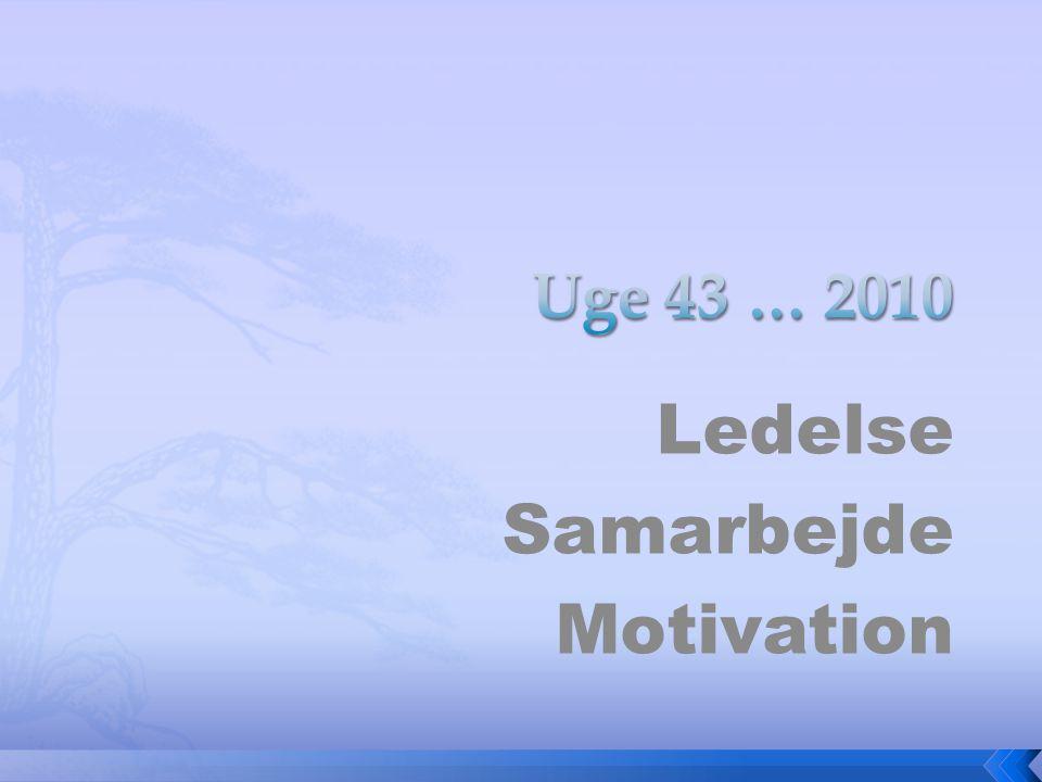 Ledelse Samarbejde Motivation