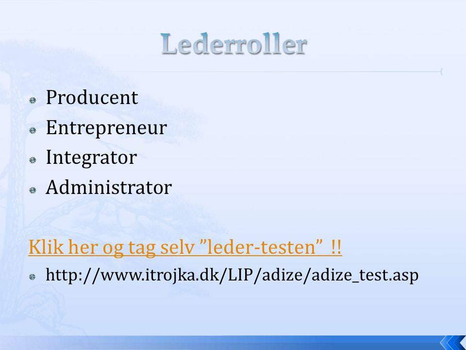 Lederroller Producent Entrepreneur Integrator Administrator