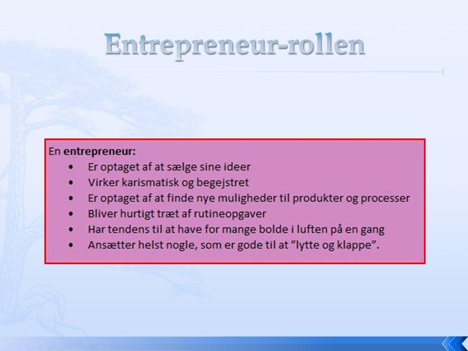 Entrepreneur-rollen