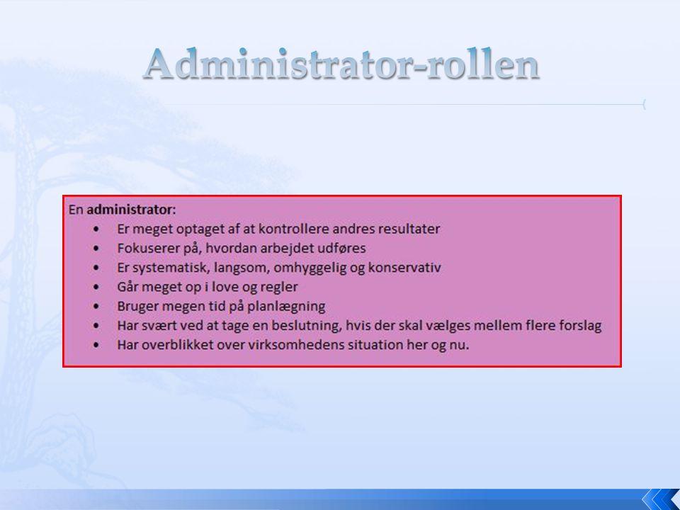 Administrator-rollen
