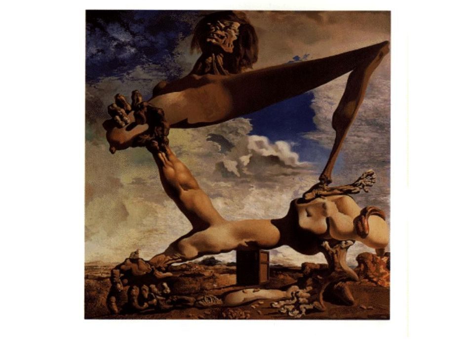 Dali: Soft Construction with Boiled Beans: Premonition (varsel) of Civil War (1936)