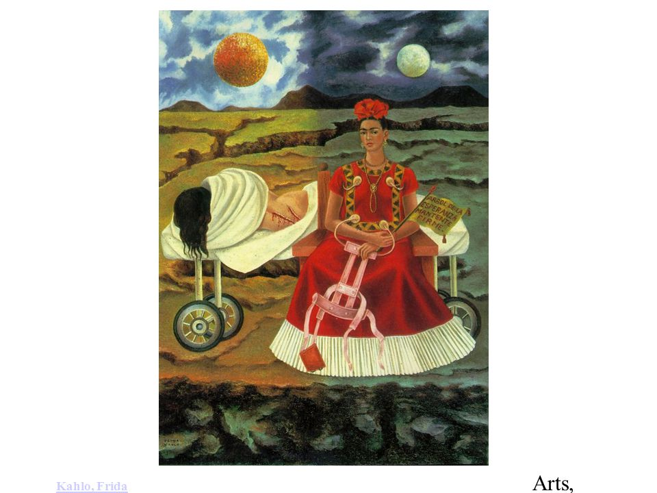 Kahlo, Frida: Tree of Hope (1946). Oil on Masonite. 22 x 16 in
