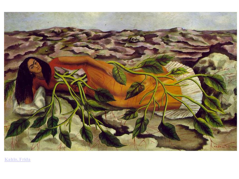 Kahlo, Frida: Roots (Raices) (1943). Oil on sheet metal