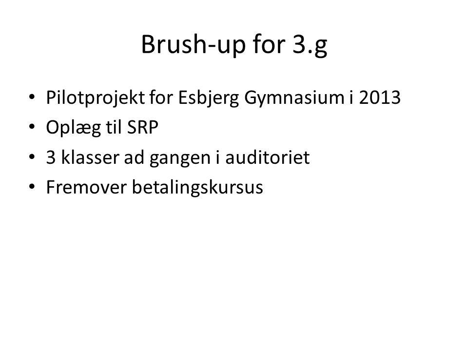 Brush-up for 3.g Pilotprojekt for Esbjerg Gymnasium i 2013