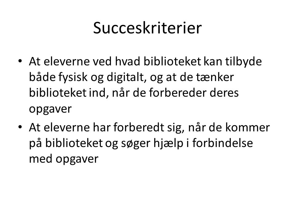 Succeskriterier