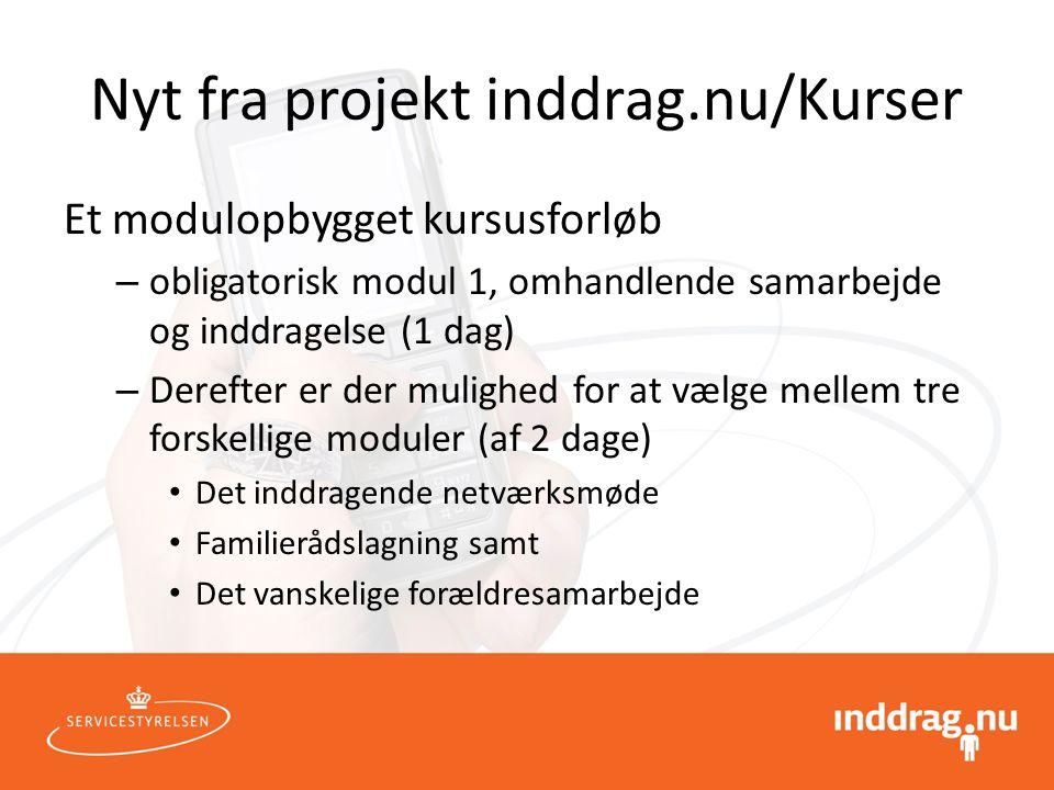 Nyt fra projekt inddrag.nu/Kurser