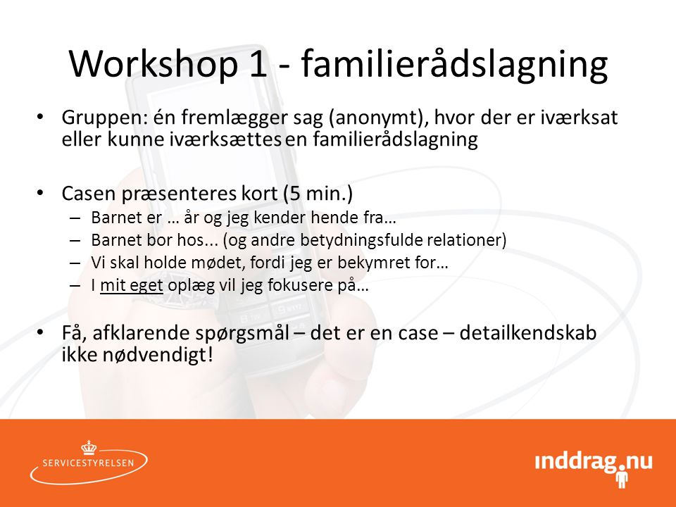 Workshop 1 - familierådslagning