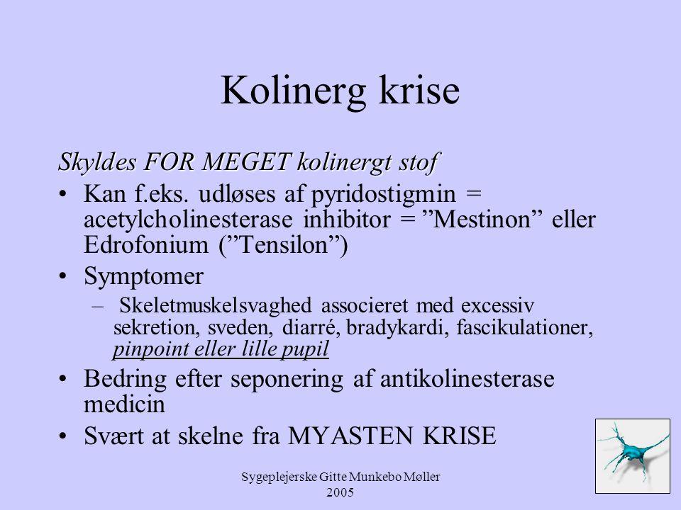 Sygeplejerske Gitte Munkebo Møller 2005