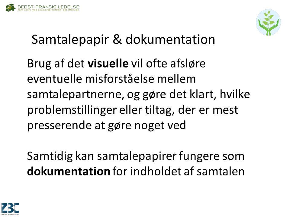 Samtalepapir & dokumentation