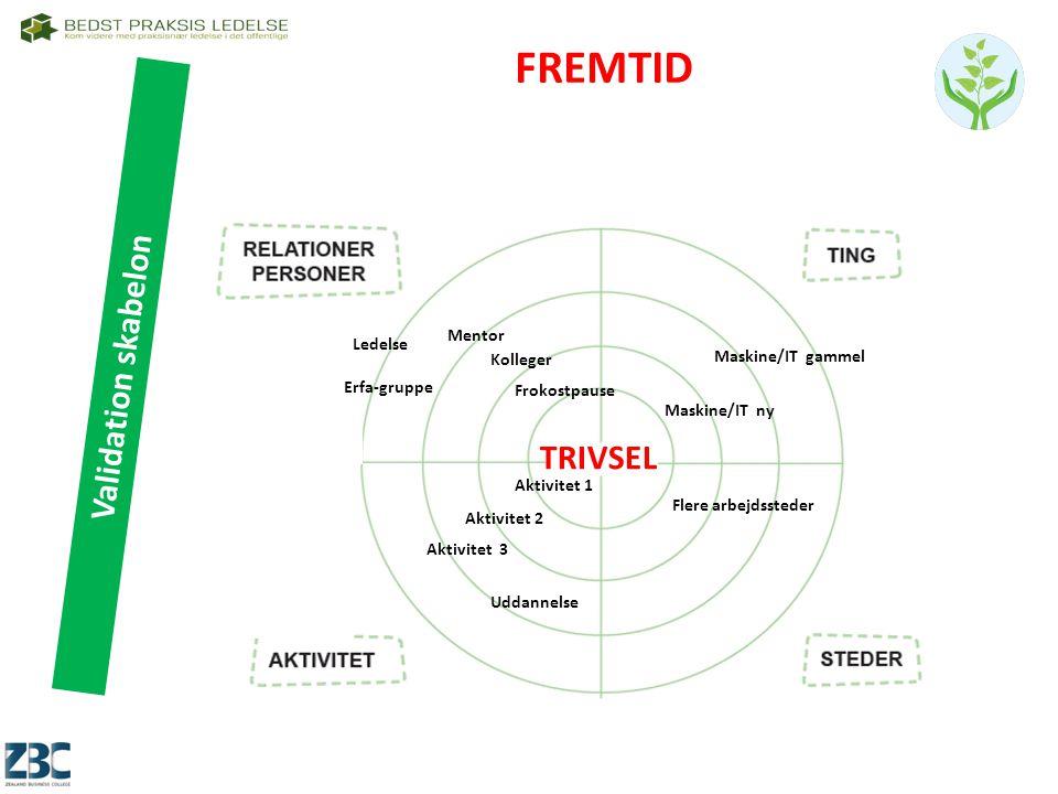 FREMTID Validation skabelon TRIVSEL Mentor Ledelse Maskine/IT gammel