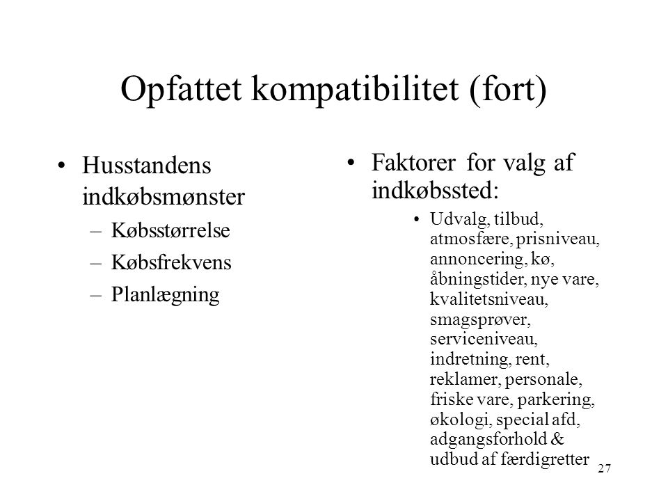 Opfattet kompatibilitet (fort)