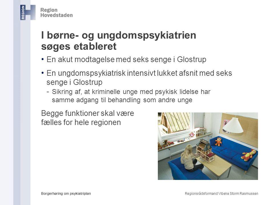 I børne- og ungdomspsykiatrien søges etableret