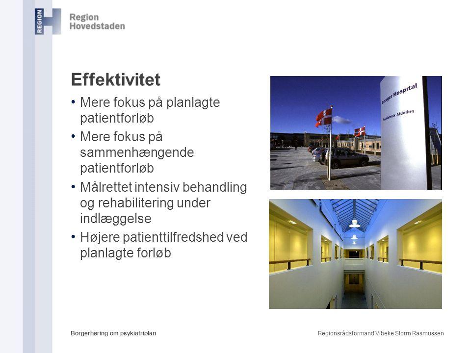 Effektivitet Mere fokus på planlagte patientforløb
