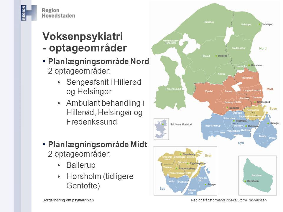 Voksenpsykiatri - optageområder