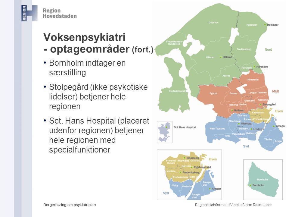 Voksenpsykiatri - optageområder (fort.)