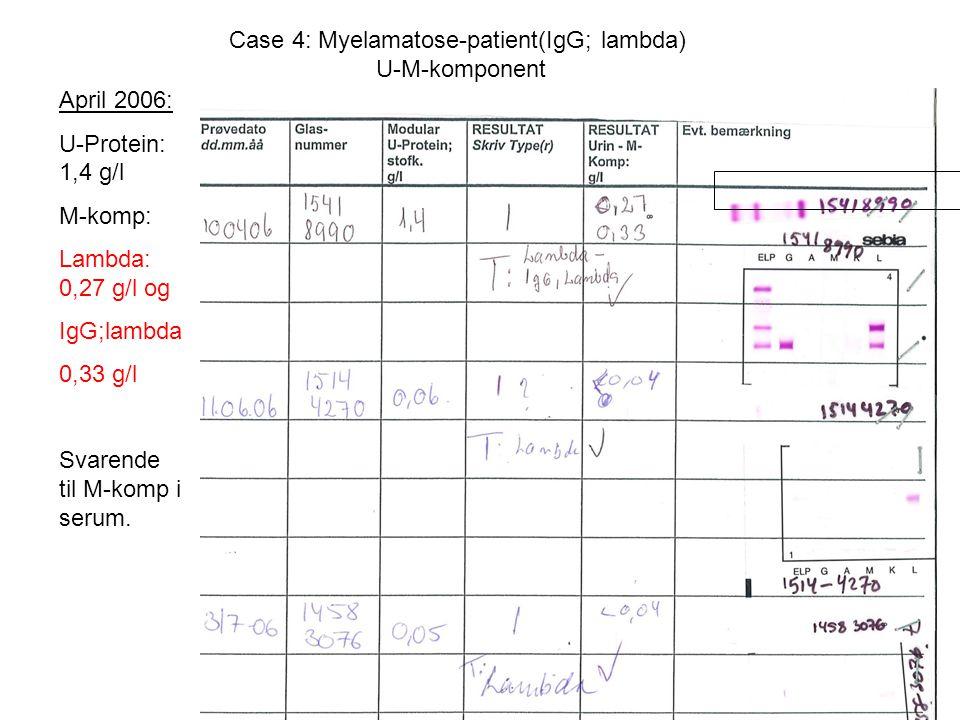 Case 4: Myelamatose-patient(IgG; lambda) U-M-komponent