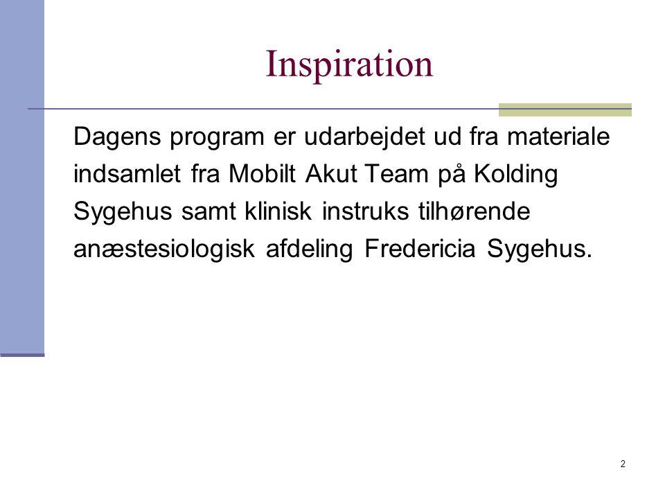 Inspiration Dagens program er udarbejdet ud fra materiale