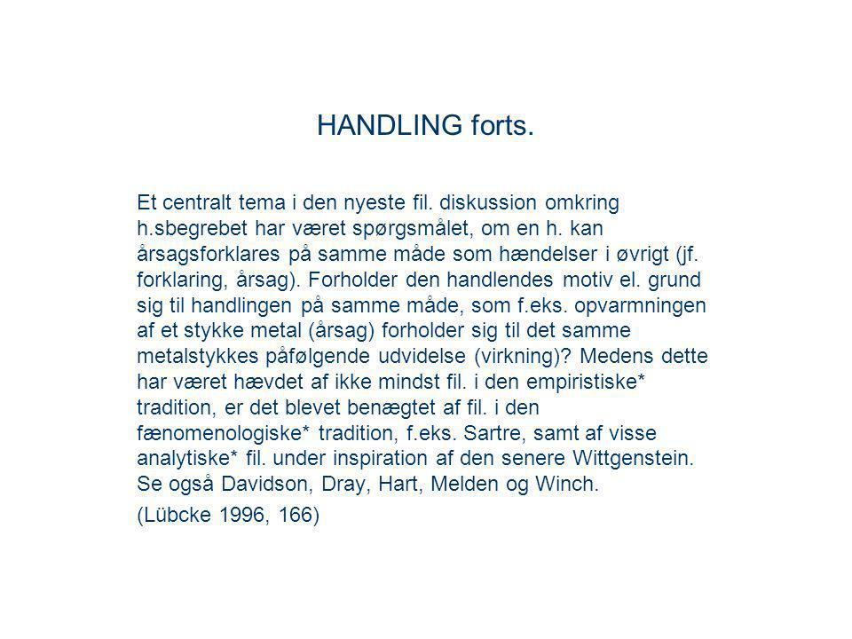 HANDLING forts.