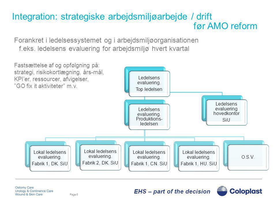 Integration: strategiske arbejdsmiljøarbejde / drift før AMO reform