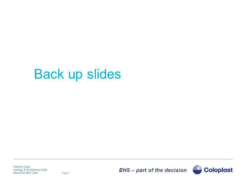 Back up slides EHS – part of the decision